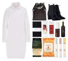 """""""4.623"""" by katrina-yeow ❤ liked on Polyvore featuring DKNY, Zimmermann, Mansur Gavriel, Toast, Korres, Burt's Bees and Vince Camuto"""