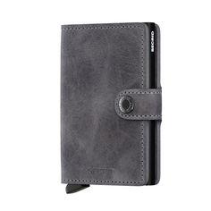 Cartera & Tarjetero SECRID ® Mini Wallet Gris & Negro ✶ Vintage