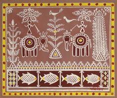 jamini roy Bengali Art, Rajasthani Art, Indian Traditional Paintings, Indian Art Paintings, Tribal Pattern Art, Tribal Art, Madhubani Art, Madhubani Painting, Jamini Roy