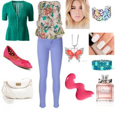 """""""Colours and Flowers"""" by alexlauerbach ❤ liked on Polyvore"""