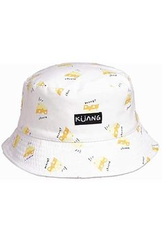 Greeting 2019 New Year Cartoon Pig New Summer Unisex Cotton Fashion Fishing Sun Bucket Hats for Kid Teens Women and Men with Customize Top Packable Fisherman Cap for Outdoor Travel