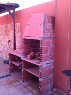 Hacer Barbacoa de obra | Bricolaje Outdoor Bbq Kitchen, Kitchen Grill, Outdoor Oven, Diy Grill, Barbecue Grill, Parrilla Exterior, Brick Bbq, Garden Doors, Diy Patio
