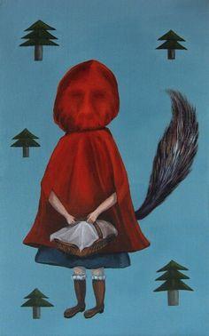 "Im painting animation series!- ""Symbol of animaion""  9th!! - Red Riding Hood !   See you next week! :)  #몽차 #빨간망토 #늑대 #redridinghoood #mongcha #fantasytales #acrylic #illustration #painting #그림동화 #환상동화"