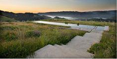 Vynbos Lap Pool  in grasslands of Lagunistas, California by Australian-born Bernard Trainor