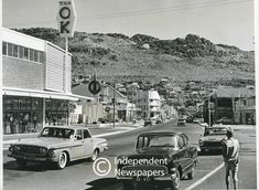 Main Street of Fish Hoek, Cape Town Photos Of Fish, Old Photos, University Of Cape Town, Cape Town South Africa, Historical Pictures, African History, Main Street, Landscape Photography, Places To Go