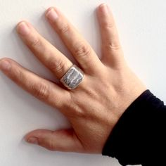 c39be9523e2813 Anello argento 925 da uomo realizzato a mano - gioiello unisex - nichel  free - etico eco sostenibile