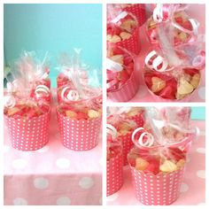 Cupcake holders filled with seeets