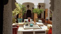 Riad Al-Bushra's courtyard, Marrakech