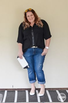Same, same, same, different - An exercise in boyfriend jeans | Suger Coat It: An Australian plus-size fashion & lifestyle blog