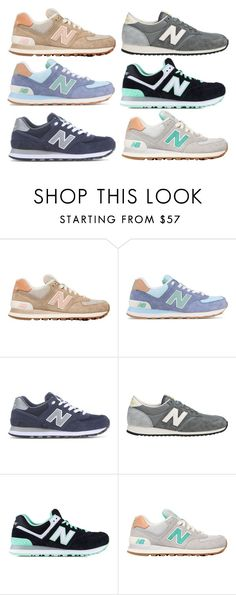 """""""new balance sneaks"""" by molliemcclendon ❤ liked on Polyvore featuring New Balance, women's clothing, women, female, woman, misses, juniors and mksfavs"""