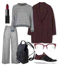 """""""Feel like electricity; warning high voltage"""" by falonstarrider on Polyvore featuring MANGO, Topshop, adidas, Noir Jewelry, Cynthia Rowley, NARS Cosmetics, outfit, ootd and LOTD"""