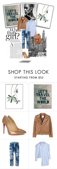 """""""Travel the world"""" by dragonfly-lt ❤ liked on Polyvore featuring Trademark Fine Art, Christian Louboutin, MANGO, Dsquared2, Vetements, See by Chloé and Savant"""