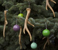 Our antler ornaments are great for more than our stylish DIY wreath; they make great Christmas tree ornaments too!