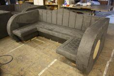 Bespoke bench seating #design #furniture #bar www.stevehowiebespokefurniture.com