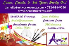 🎨 Come, #Create & Enjoy with the BEST #Paint #PARTIES around! 🎨 Get your #pARTy on! Private #events for any and all #occasions 🎨 #paintpartynj #paintandsip #paintandsipnj #njart #njparty #njparties #mobilepaintparty #birthdayparty #bachelorettepartyideas #bridalshowerideas #teambuilding http://goo.gl/k6mcsy