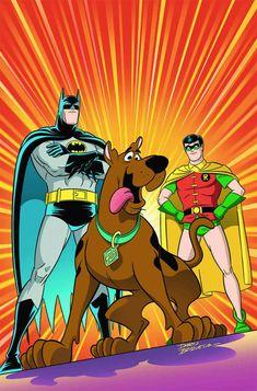 Scooby-Doo Team-up (DC Comics, - Batman and Robin Arte Dc Comics, Batman Comics, Batman Poster, Desenho Do Scooby Doo, Comic Books Art, Comic Art, Mejores Series Tv, Wallpaper Animes, Batman Wallpaper
