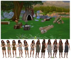 History Challenge CC Prehistoric objects & outfits at Around the Sims 4 via Sims 4 Updates Check more at http://sims4updates.net/clothing/history-challenge-cc-prehistoric-objects-outfits-at-around-the-sims-4/