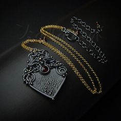 Chiaroscuro  unique hand crafted silver and gold necklace by Iza Malczyk