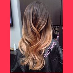 Ombre Hair - My client Stephanie came in today for her ombré refresh after 7 months! She loves how long it lasts and the low maintenance of it! @Stephanie Close Close Close Lopez