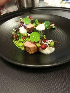 Lamb, cherry, form with oscypek ,