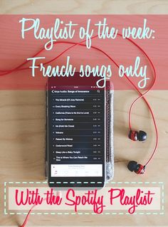 French playlist of the week