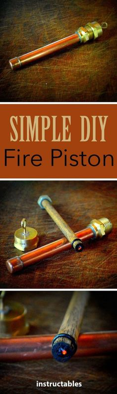 Fire Piston This simple device allows you to ignite char cloth without any form of fire!This simple device allows you to ignite char cloth without any form of fire! Kit Bushcraft, Bushcraft Camping, Camping Survival, Outdoor Survival, Camping Axe, Lake Camping, Urban Survival, Survival Equipment, Survival Tools