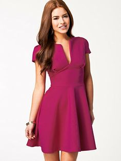 Pam Skater Dress - Club L - Hot Pink - Party Dresses - Clothing - Women - Nelly.com