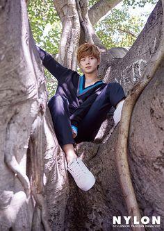 Photo )) BTOB Yook SungJae for October issue of Nylon Magazine 2017 Sungjae And Joy, Sungjae Btob, Minhyuk, Grazia Magazine, Korean Fashion Men, Men's Fashion, Korean Actors, Korean Idols, Korean Drama