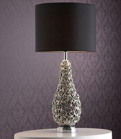 Ceramic and chrome lamp.  http://www.worldstores.co.uk/p/Alphason_Lighting_Rosa_Chromed_Ceramic_Table_Lamp.htm