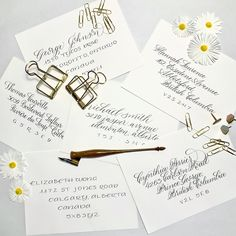 Calligraphy gives a wonderful personal touch to an already memorable occasion. Envelopes are the true introduction to your big day. They can set the stage to how formal or whimsical your event will be just by changing the script. Copperplate Calligraphy, Calligraphy Envelope, Wedding Calligraphy, Mont Real, Beautiful Calligraphy, Wedding Envelopes, Special Day, Different Styles, Whimsical