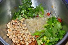 Yum woon sen, Thai clear noodle salad, light. I made this one too, very good. Leftovers get funky the next day.