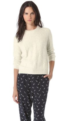 fcfb2cf0c6 Band of Outsiders Cash Cable Knit Pullover Band Of Outsiders