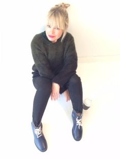 Ilse Jacobsen Rain Boot, Indigo - Boots & Shoes - Fashion : Travelling Bazaar streetstyle london fashion aw15