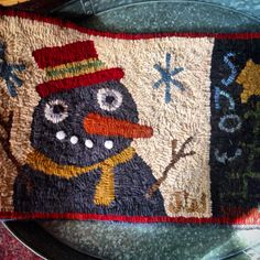Snow Days from Mad Hen Primitives. Hooked by Sox & Patches
