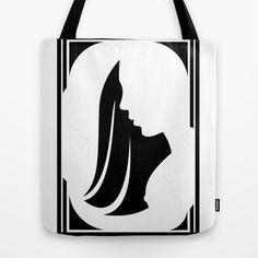 Black & White Tote Bag by Robleedesigns - $22.00 #fashion, #women, #designs, #designer, #bags, #tote