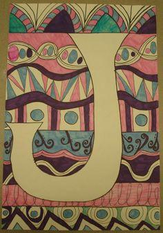 Art Sub Lessons: Monogram Letter Designs