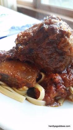 Braised Italian-Style Beef Short Ribs | Hardly A Goddess