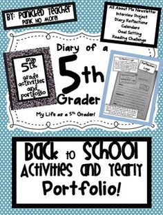 """Organize your data binders/student portfolios with this """"Back to School"""" Unit"""