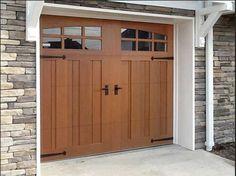 Wooden Garage Doors with Windows | designing fake wood garage doors ideas with glass window garage door ...