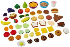 Amazon.com: Learning Resources New Sprouts Complete Play Food Set: Toys & Games