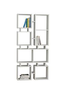 Bibliothèque Rail No.1, blanc  79 x 166 x 24 cm