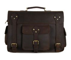 #Selvaggio Large #Vintage Full Grain #Leather #Briefcase
