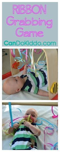 Month 4 Baby Activities - capture your baby's growing interest in grasping and reaching :: infant development, newborn play