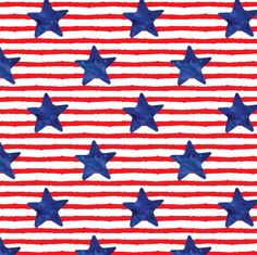 Stars And Stripes Fabric - Blue Watercolor Star On Stripes By Littlearrowdesign - July Cotton Fabric by the Yard With Spoonflower Patriotic Wallpaper, Patriotic Background, Summer Crafts For Toddlers, Toddler Crafts, Vinyl Crafts, Striped Fabrics, Spoonflower Fabric, Cute Wallpapers, Iphone Wallpapers