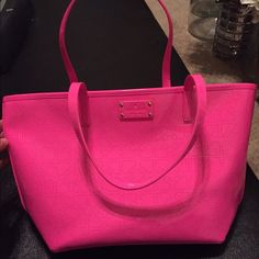 Brand new Kate Spade neon pink Small Harmony Small Harmony bag, patent leather neon pink bag! Perfect for everyday but suitable for evening! kate spade Bags Shoulder Bags