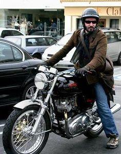 Keanu Reeves. Norton Commando.