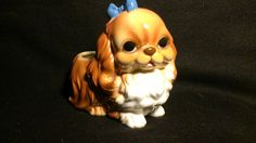 Cute Dog Planter Made in Japan 209 by RubyLaneTreasures on Etsy