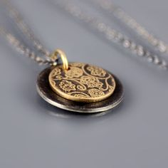 Tiny Layered Rose Garden Necklace | 14k gold and sterling silver by Lisa Hopkins Design