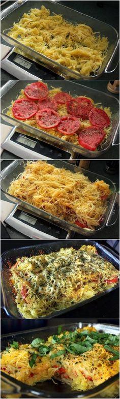 Spaghetti Squash and Tomato Bake