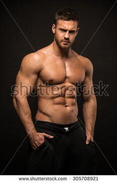Muscled male model Konstantin Kamynin